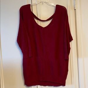 Torrid 3/4 Sleeve Maroon Sweater